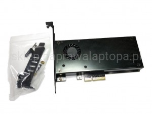 adapter M.2 SSD NGFF DO PCIE X4 + wentylator