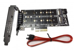 Adapter m.2 DUAL NVME SATA M.2 PCI-e 2210mm
