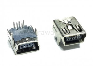 GNIAZDO MINI USB 2+5PIN 9.40/7.70/4.00mm